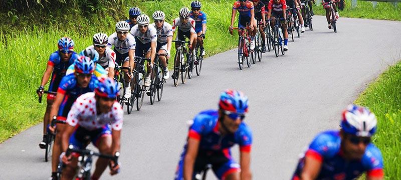 Tour de Lombok Mandalika bicycle riders compete on Lombok
