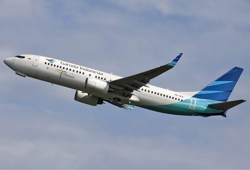 Garuda Airlines intends to fly larger Lombok jets - like the Boeing 373 NG shown here