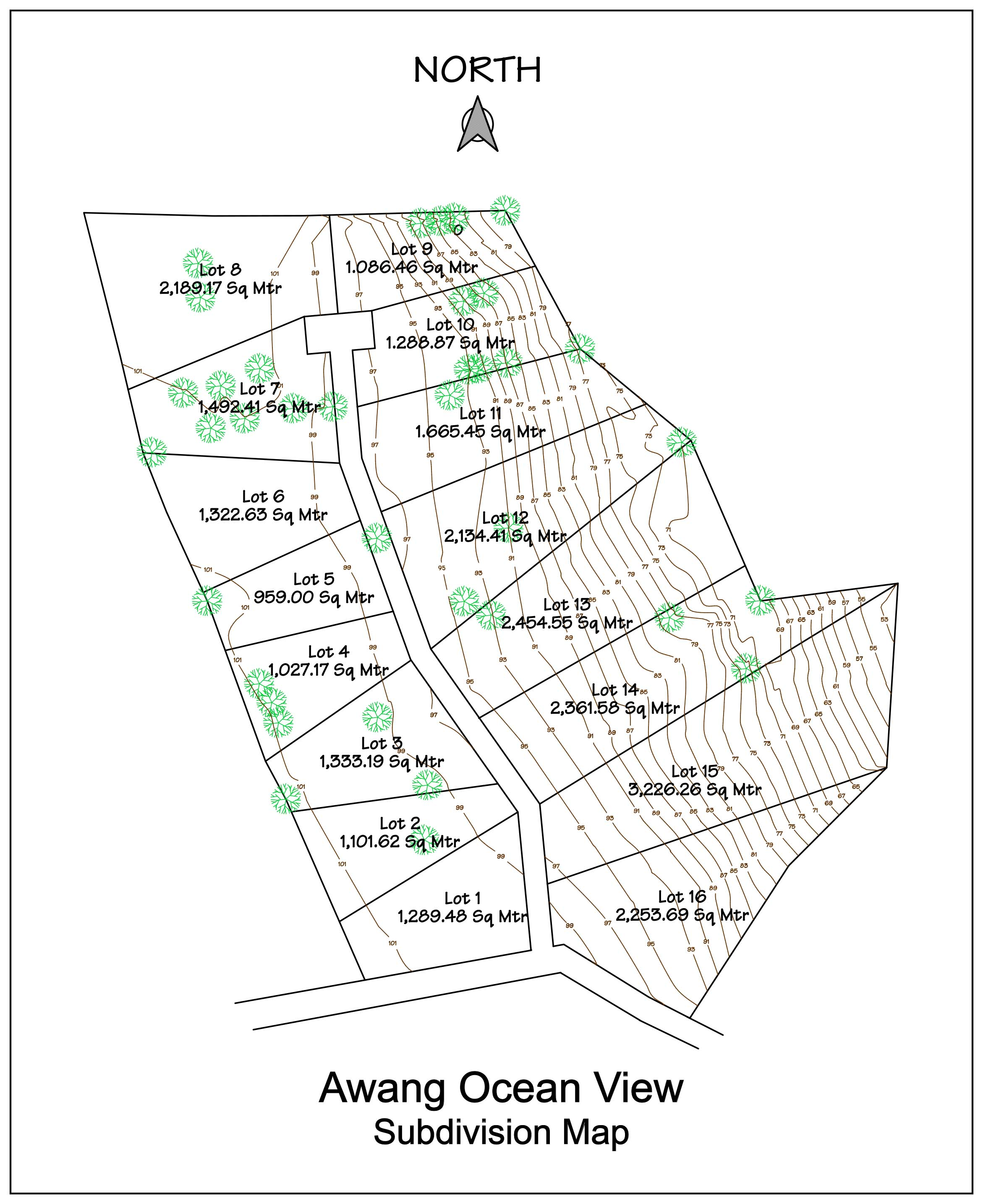 Awang Ocean View Subdivision Map