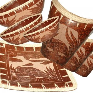 Lombok Etched Ware With Rattan