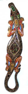 Lombok Hand Painted Geko With Inlaid Mother-Of-Pearl