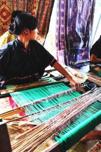 Lombok Ikat On The Loom