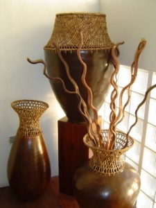 Lombok Pots With Rattan Accents