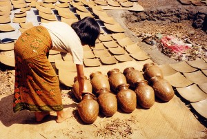 Sun Drying Lombok Greenware