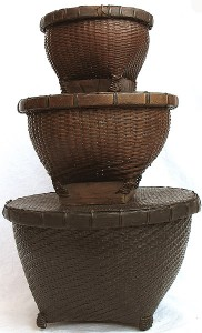 Lombok Woven Bamboo Covered Baskets