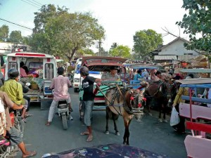 Lombok Market Day Traffic Jam