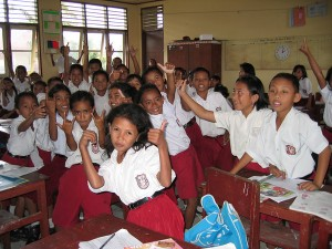 School Children In Ambon, Lombok