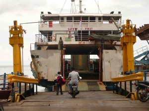 Boarding The Ferry At Padangbai (To Lombok)