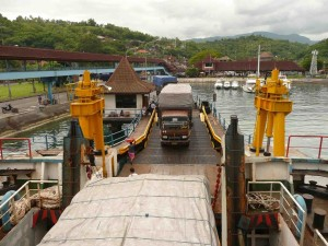 Transporting Goods from Lombok To Bali On Ferry (At Lembar)
