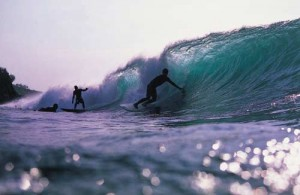 Surfing Lombok Desert Point